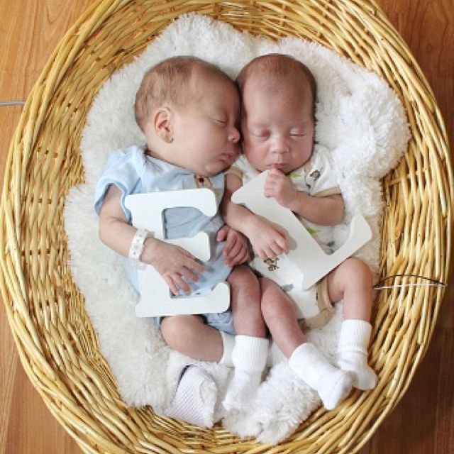 Twin boys love the letter of their names idea · newborn pictures twinsnurseries