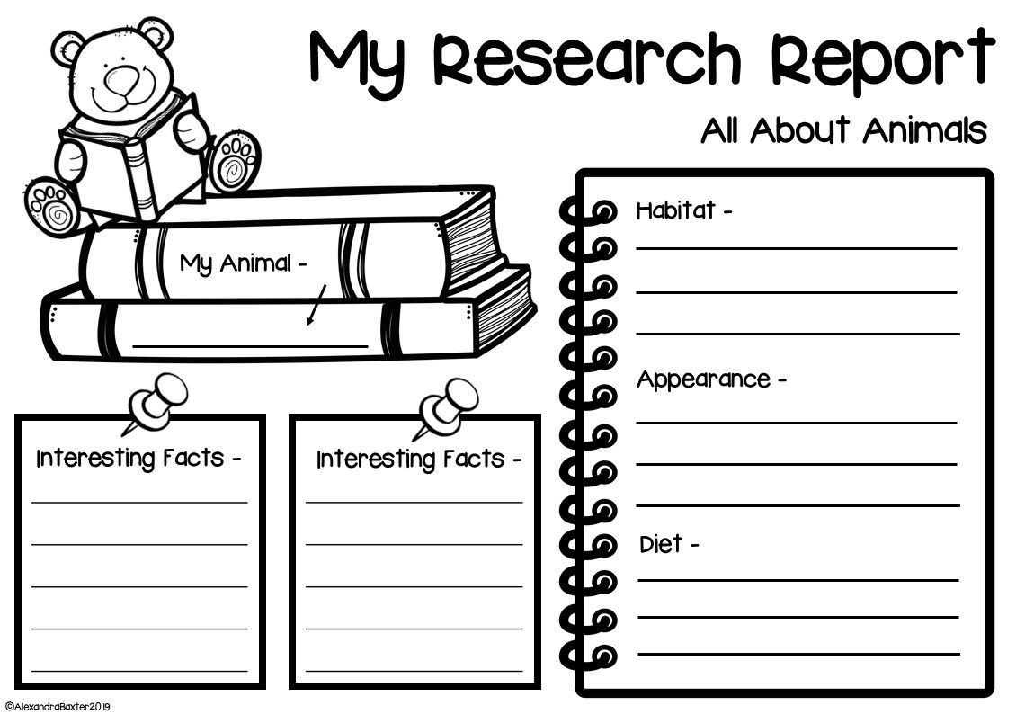This product is a selection of activities for writing an 'Animal Research'  report/project. T…   Reading response worksheets [ 794 x 1130 Pixel ]