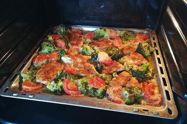 Putenschnitzel mit Brokkoli vom Blech von gakna | Chefkoch