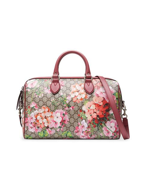 229787821a1768 GUCCI Blooms Gg Supreme Top Handle Bag. #gucci #bags #shoulder bags #hand  bags #canvas #suede #lining #