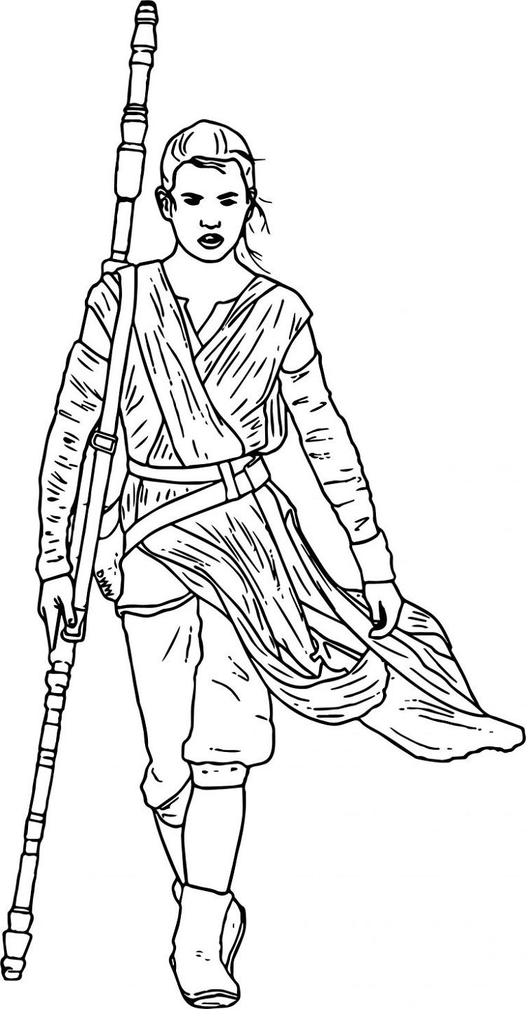 rey and finn coloring pages - photo#16