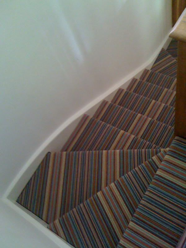 Striped Carpet On Stairs Winder Not Right Striped Carpets