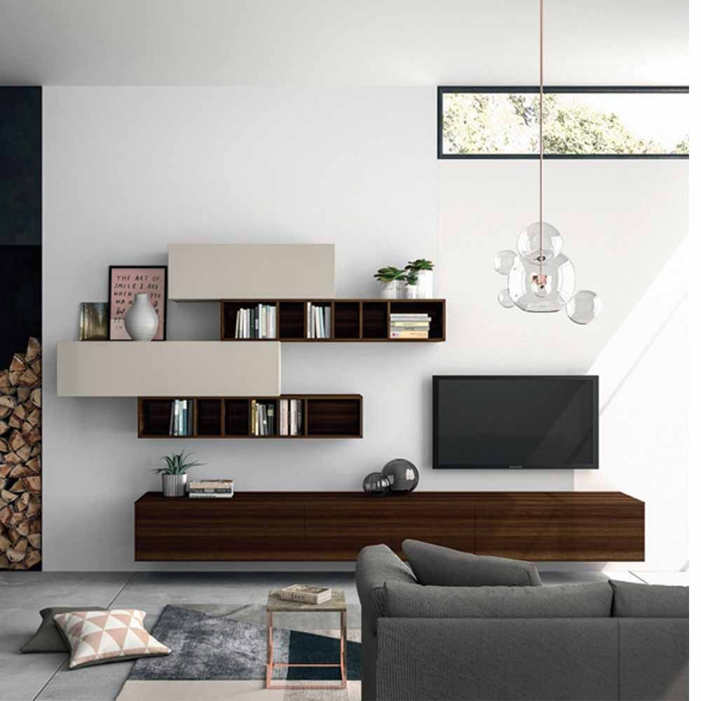 Elegant Wooden White Tv Unit By Dall Agnese Muebles  # Wooden Art Meuble Tv