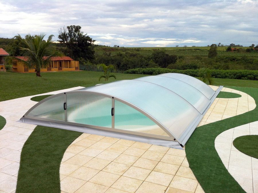 Swimming Pool Retractable Enclosure Cover,Lockable for Safety ...
