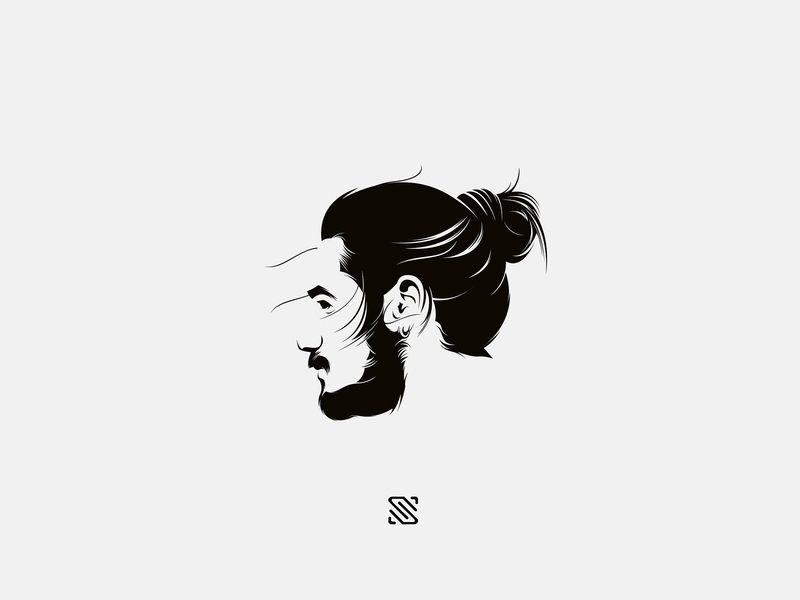 Barbershop Beard Logo Design Barbershop Design Beard Art