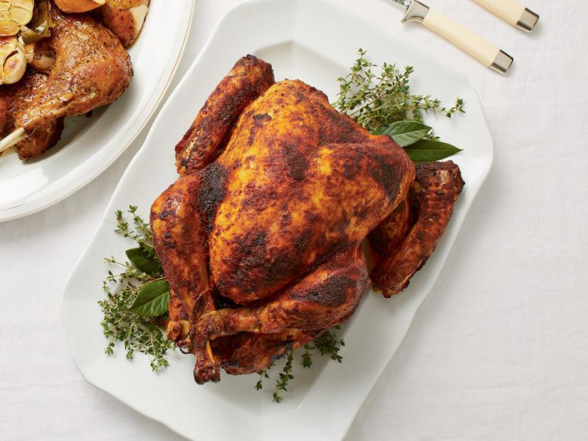 Buttermilk Brined Spice Rubbed Turkey Recipe Food Network Recipes Turkey Recipes Food