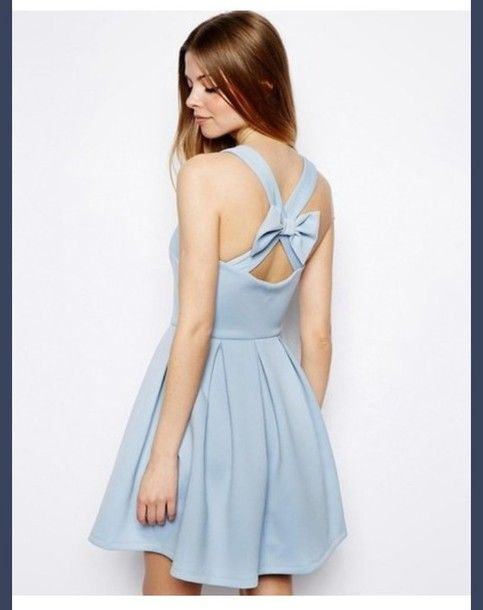 light blue dress girly bows skater skirt skater dress tumblr cute vintage  instagram fashion style tumblr outfit Bow Back Dress skirt shorts t-shirt  blue ... d8d045d84