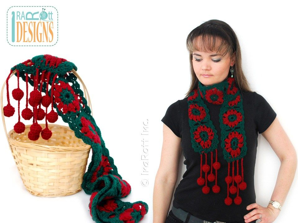 Jingle Bells Christmas Festive Holiday Scarf Free PDF Crochet ...