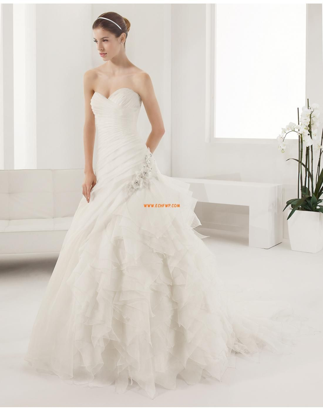Hochzeitskleider mit Schal KleiderfürHochzeitsempfang Frühling ...