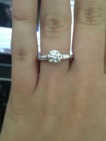 1 ct Solitaire Antique Engagement//Anniversary Ring Sz6