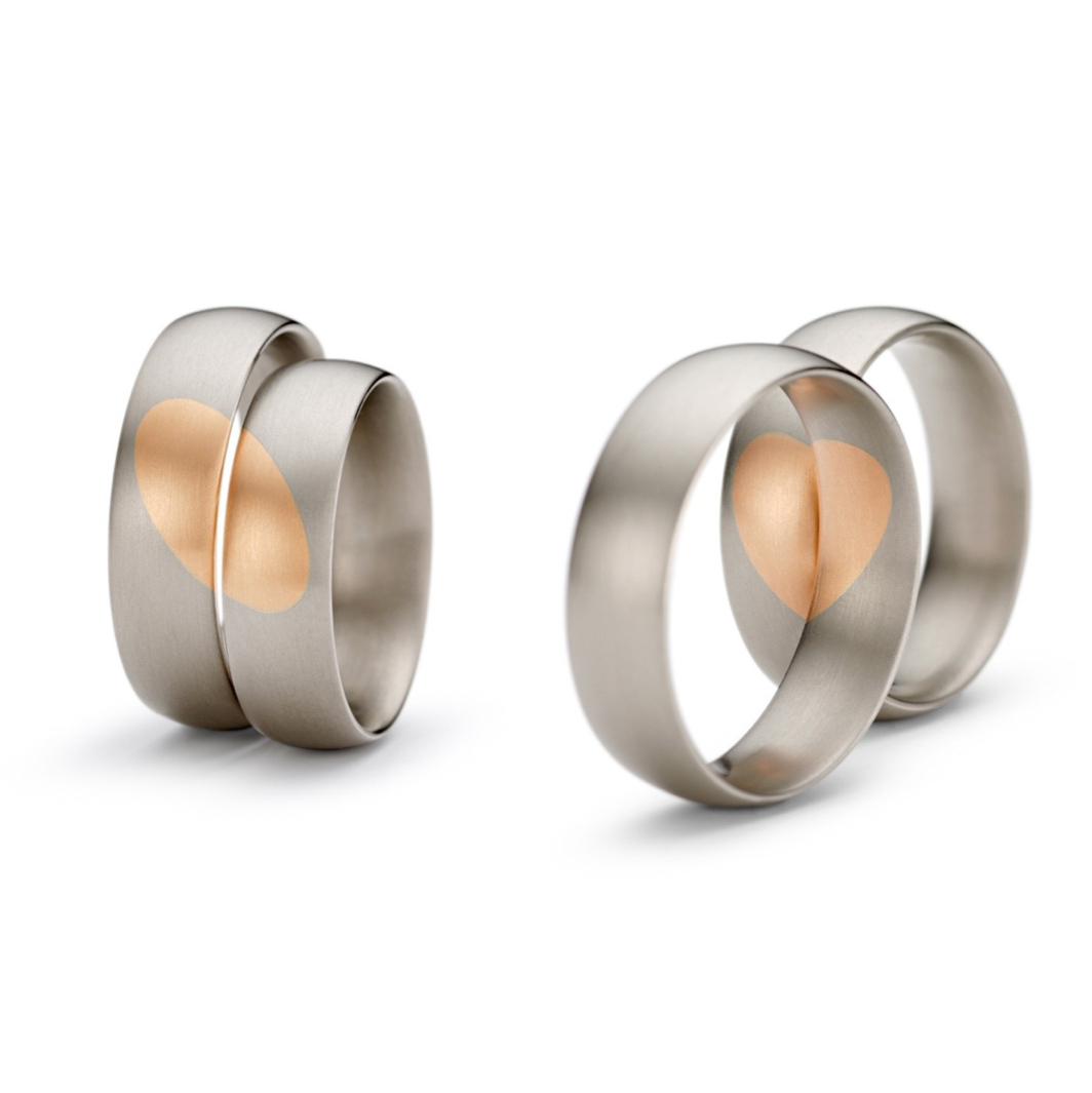 Niessing Gold Hearts Desire Wedding Rings ORRO Contemporary