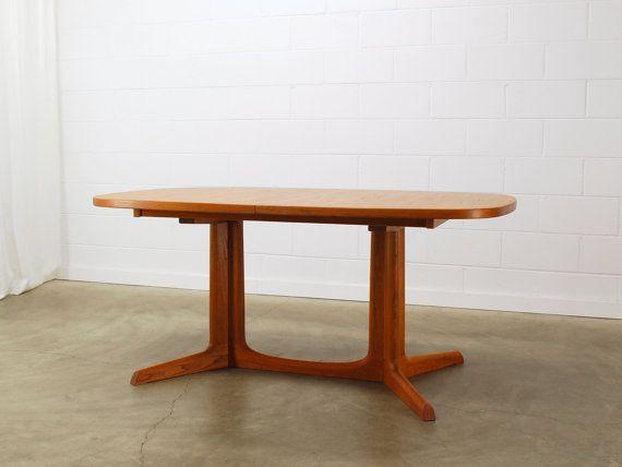 Vintage Danish Modern Teak Dining Table Neils Omadsenmodern Simple Danish Modern Dining Room Design Ideas