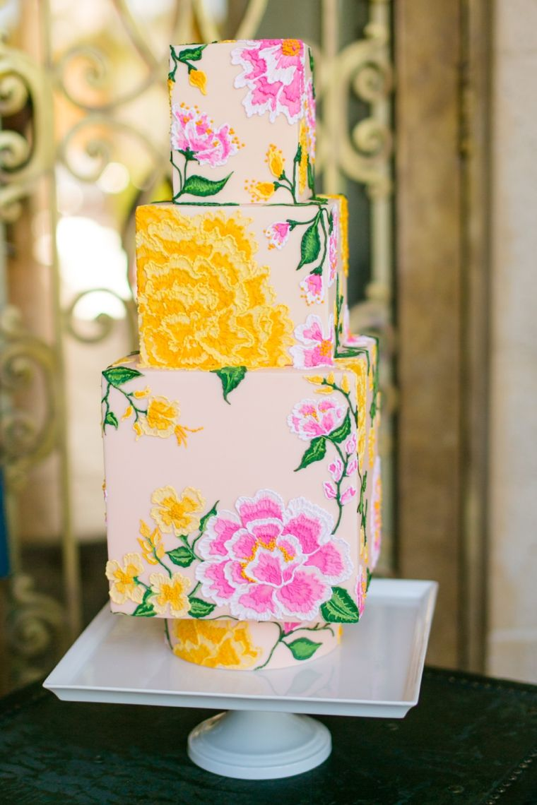 Eclectic Jewel Toned Wedding Inspiration | Cake cover, Tiered cakes ...