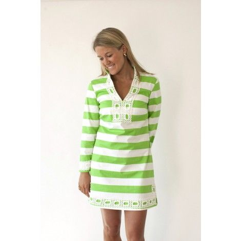 Cheers to Chic Tunic in Green by Sail to Sable