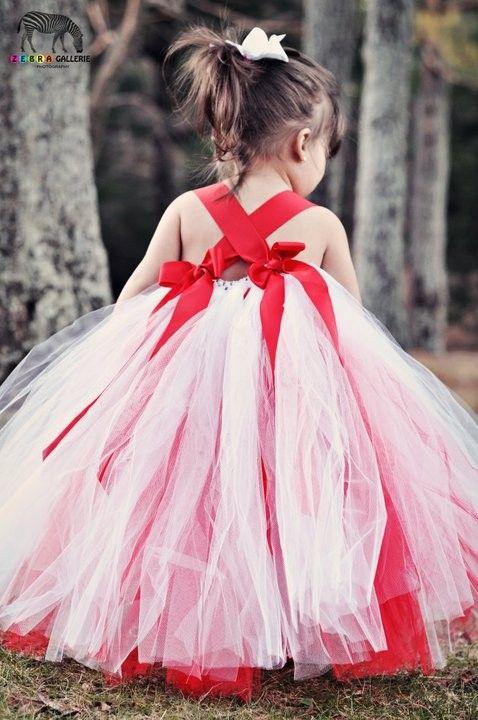 White and Red Tutu Dress