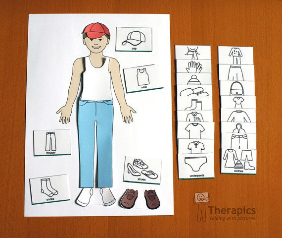 Learning pack for My Body and Clothing  digital by Therapics, €8.00