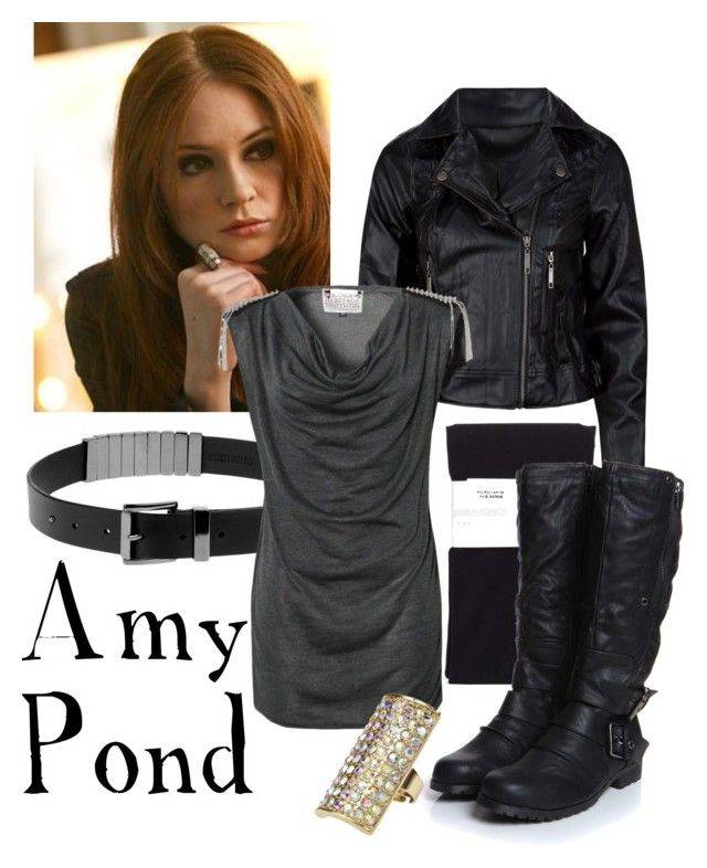 """Amy Pond"" by companionclothes ❤ liked on Polyvore featuring Ashley, Plein Sud, Blonde + Blonde, Freya, Lipsy and doctor who"