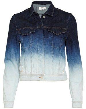 1b252442 Acne - Stace Degrade denim jacket - blå - YouHeShe.com | jackets ...