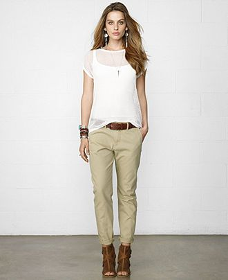 Denim & Supply Ralph Lauren Straight-Leg Chino Pants - Pants & Capris -  Women