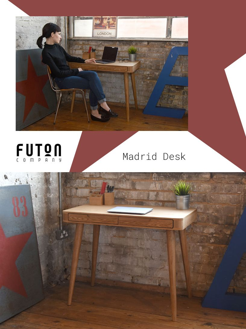 Madrid Desk This Neat Is Made From Oak Veneered Panels On Beautiful Solid