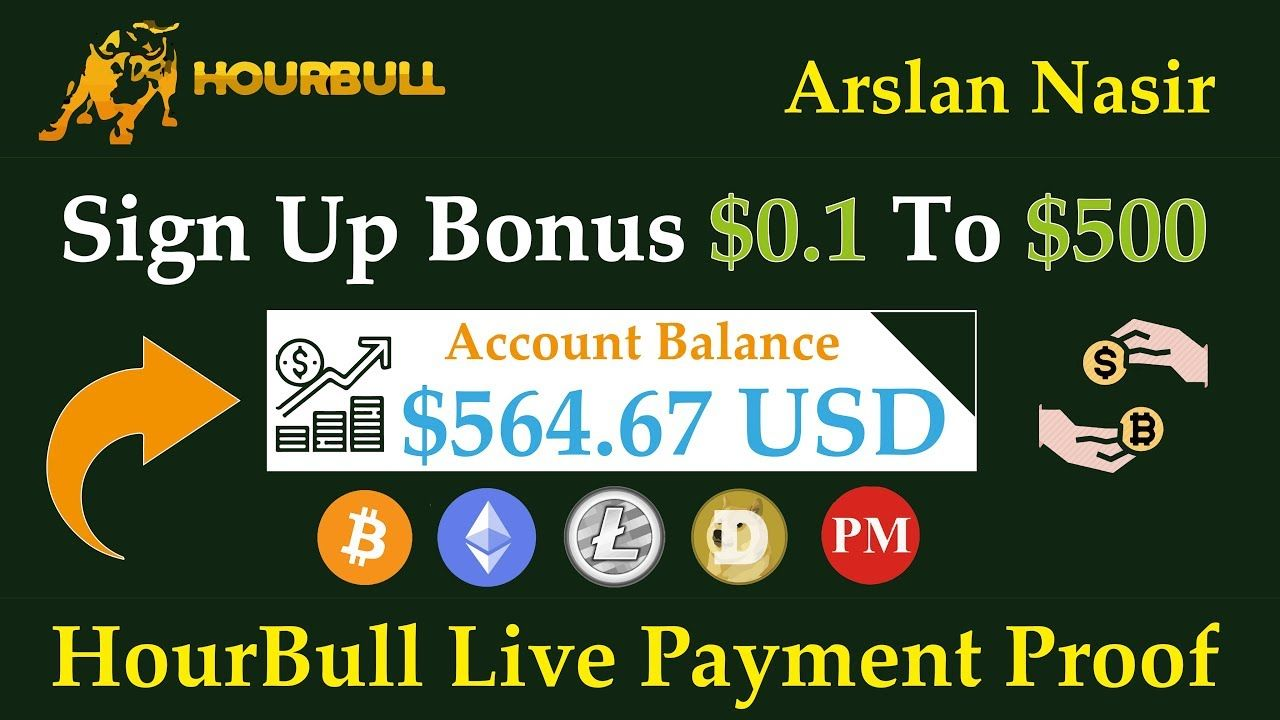 HourBull New Free Bitcoin Earning Site 2019 Free