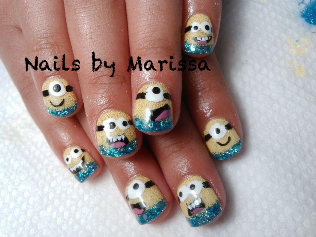 Kids acrylic overlay nails. Minions | Nails by Marissa | Pinterest ...