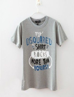 Camiseta Dsquared rocks gris TALLA L