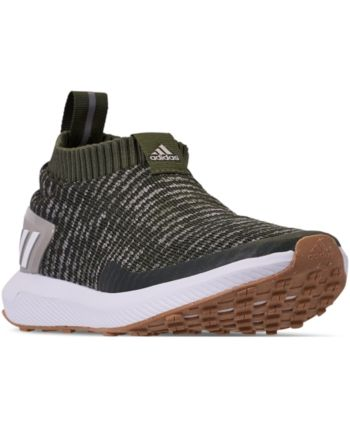 premium selection f202f 4fc35 adidas Boys  RapidaRun Laceless Running Sneakers from Finish Line - Green  6.5