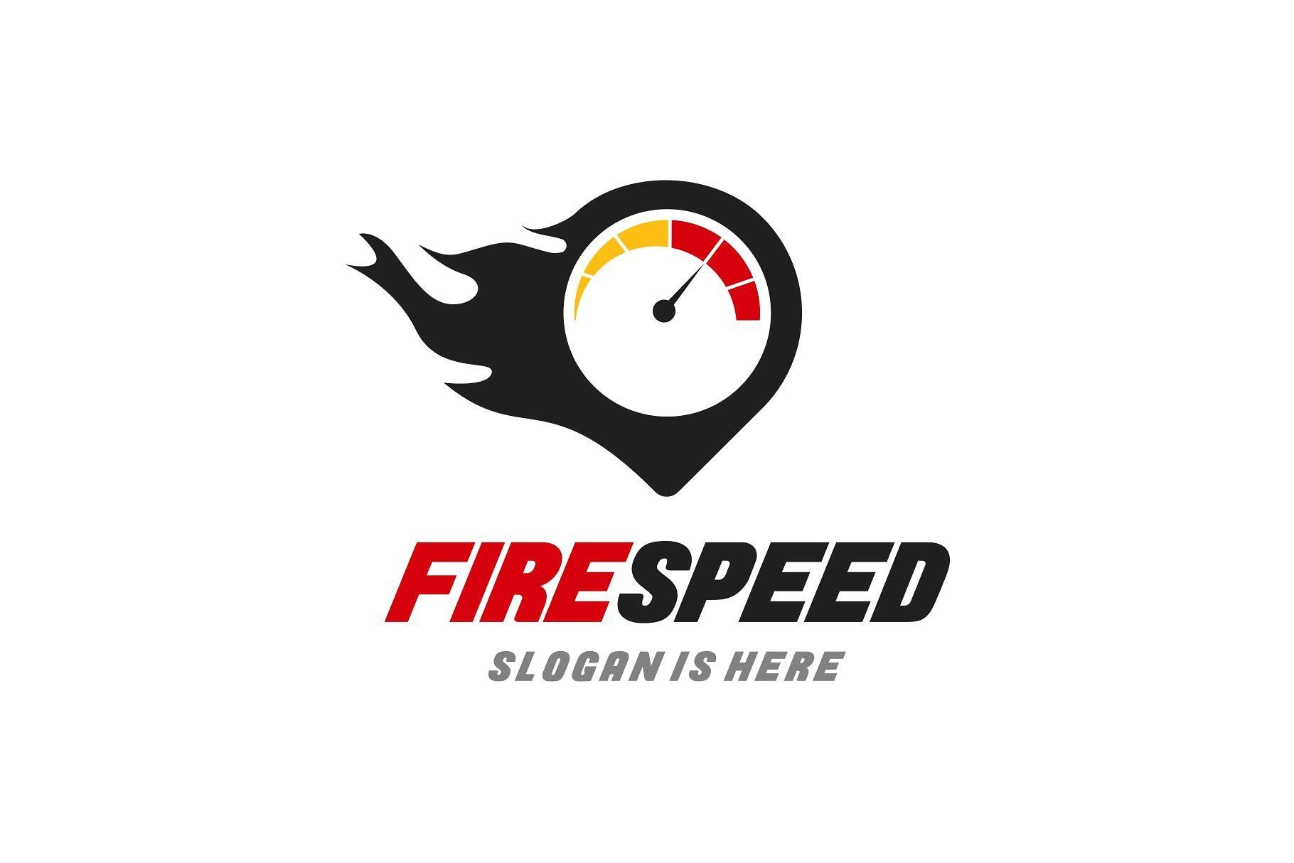 Fire speed logo template speed logo logo templates logos