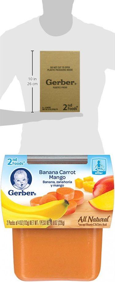 gerber 2nd foods banana carrot mango 4 oz tubs 2 count pack of 8