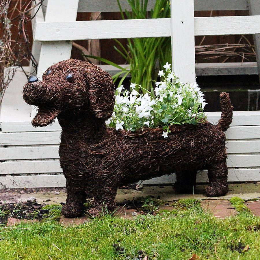 dachshund planter dachshunds planters and dog. Black Bedroom Furniture Sets. Home Design Ideas