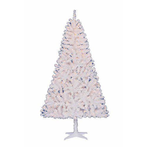 Pre-lit 65\u0027 White Artificial Christmas Tree 400 Clear Lights 600