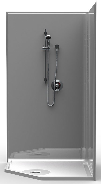 42 X 42 Neo Angle Shower Stall Is A One Piece Unit Curbless