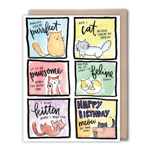 I Love Puns Perfect Bday Card Fiberanddye