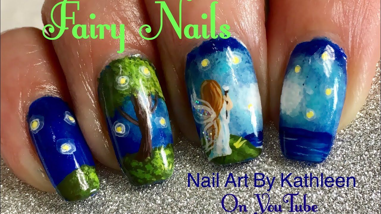 Fairy Nails (Inspired) Freehand Nail Art Tutorial - YouTube This ...