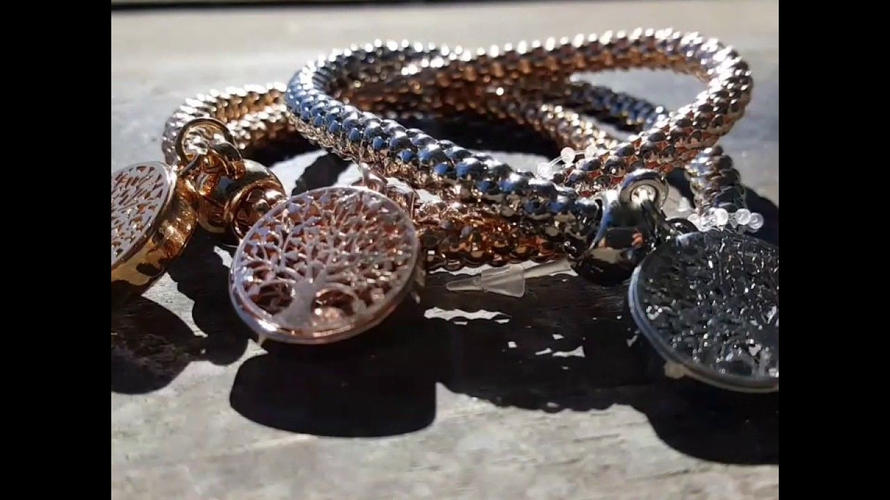 Quot Tree Of Life Quot Bracelet With Charms Amp Austrian Crystals
