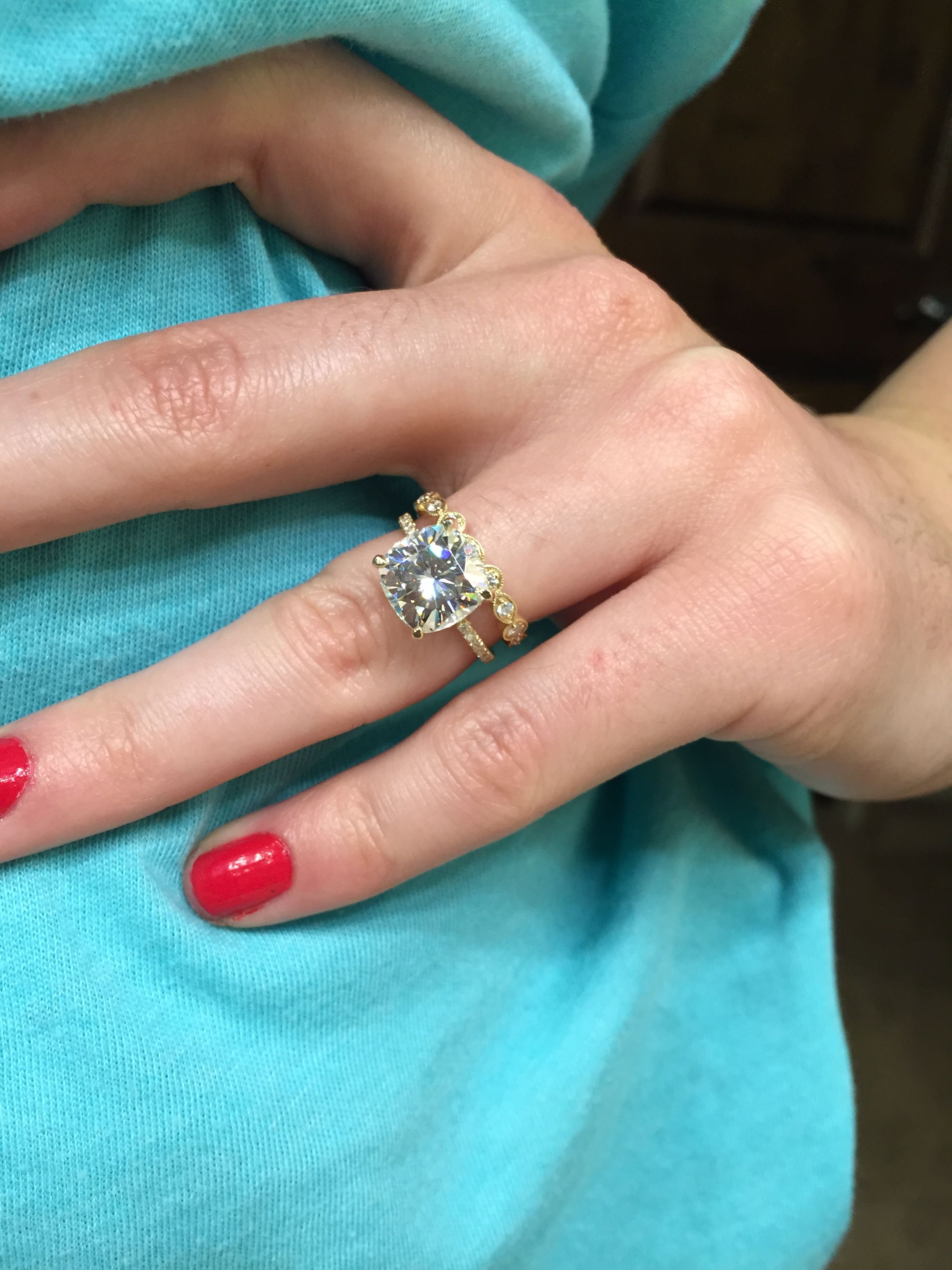 Moissanite Weddingbee Rings Pinterest