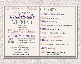 Image result for bachelorette itinerary template pine roses image result for bachelorette itinerary template pronofoot35fo Image collections