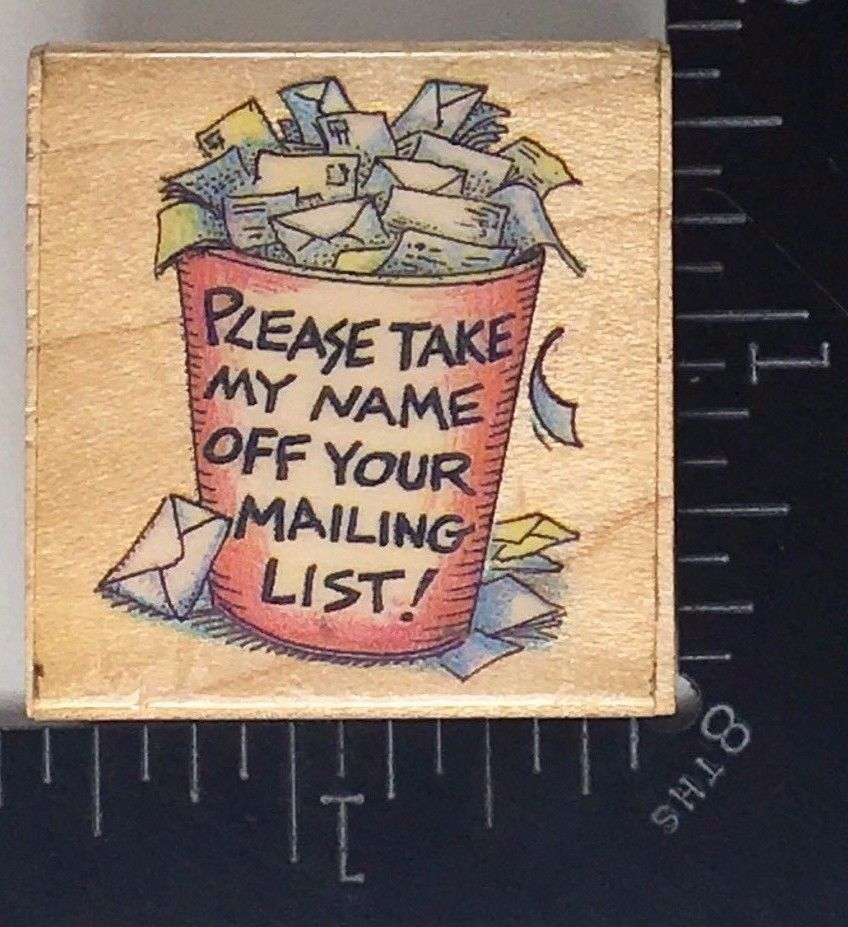 Rubber Stamp Sayings Mail Letter Address Take My Name Off Your
