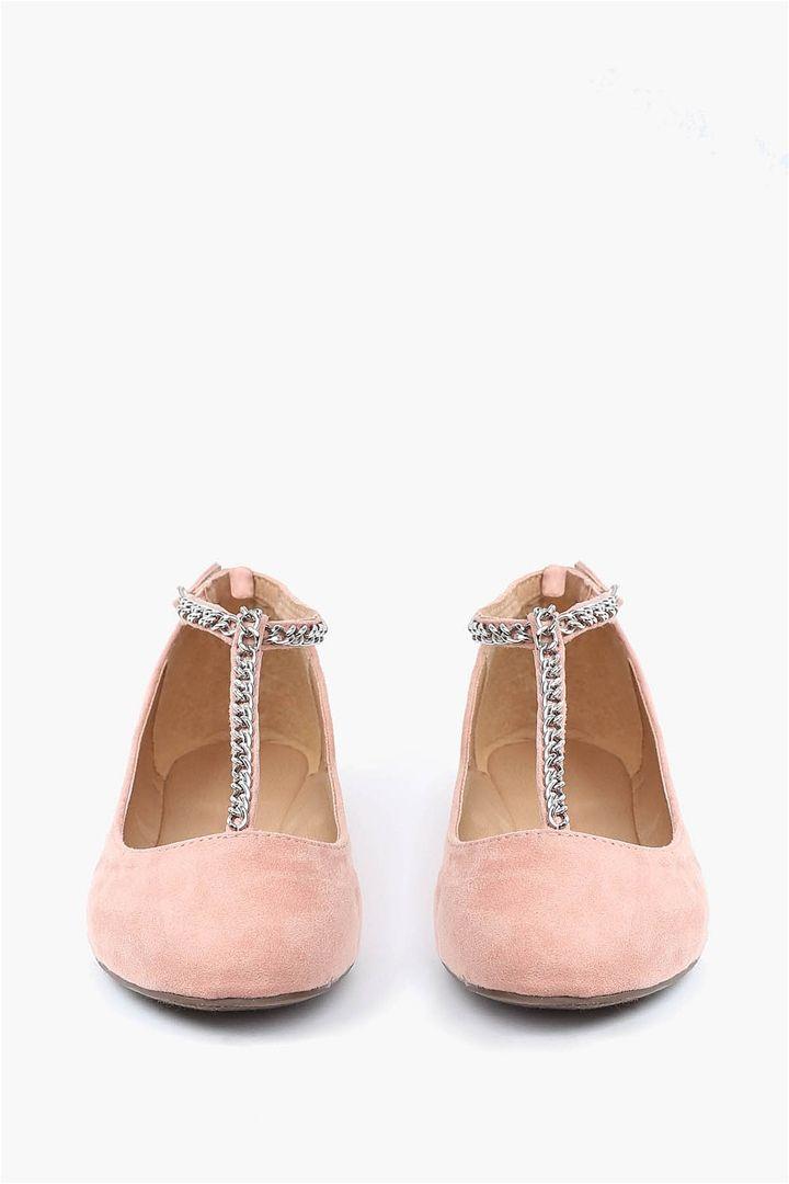 48fa219a5 Ava Chain Flat - Blush | Shoes | Shoes, Shoe boots y Crazy shoes