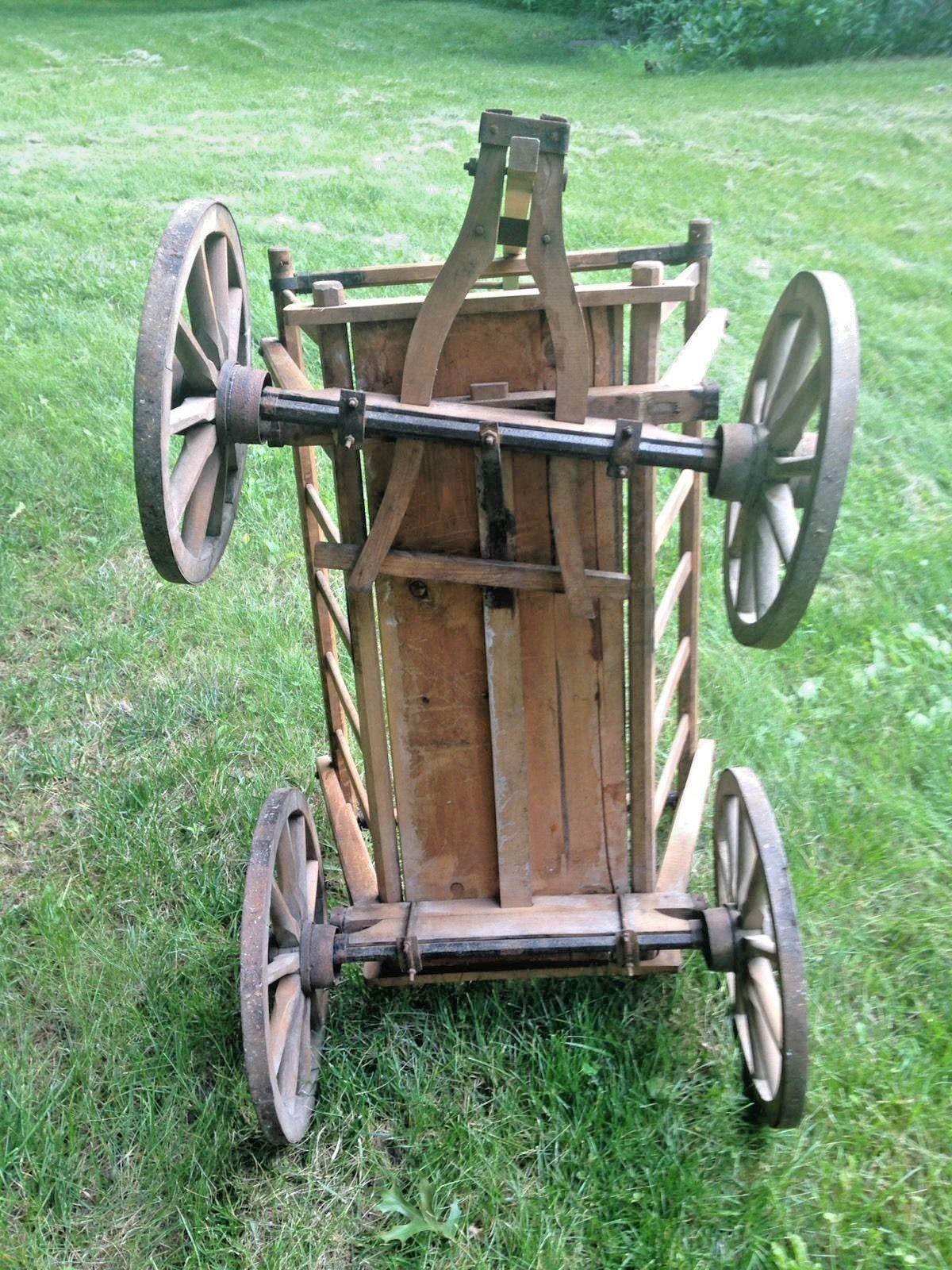gardener wheels old cart the garden meditative
