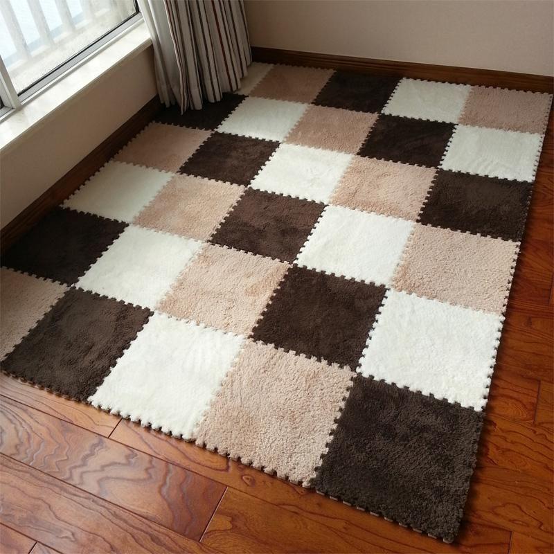 Residential Plush Carpet Tiles Pics
