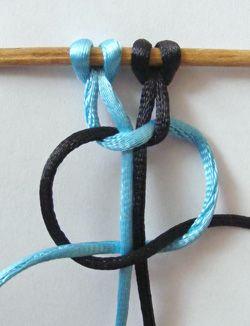 Image result for egyszerű makramé karkötő készítése lépésről lépésre