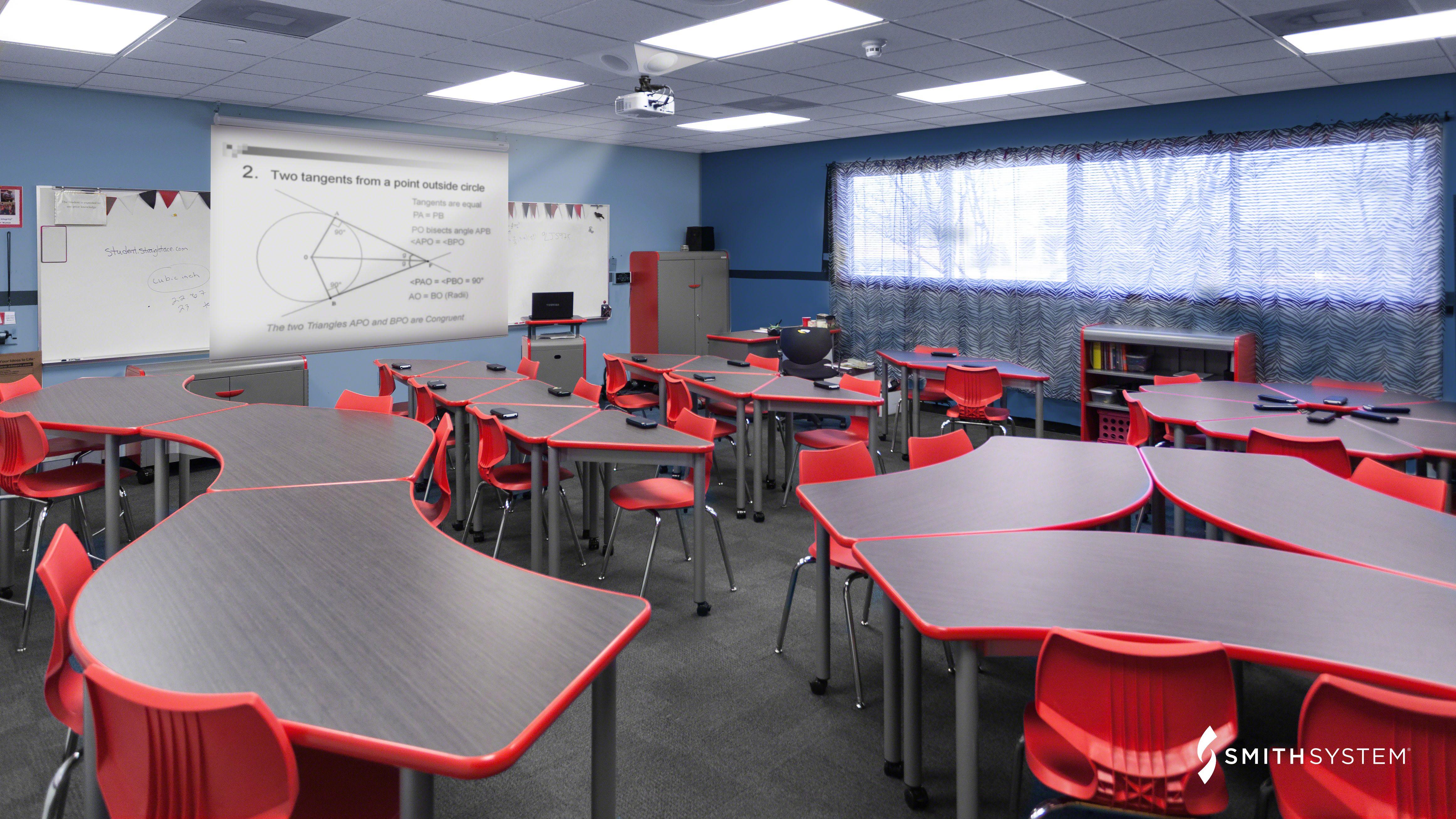 Classroom With Uxl Crescent Desks Flavors Seating Interchange