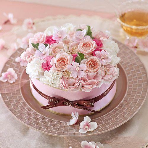 フラワーパティシエ「ガトーサクラ」   誕生日花束, フラワーラップ, 花 ケーキ