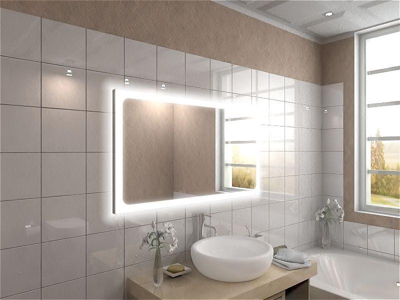 Badspiegel mit LED Beleuchtung - Carlo waschtischplatte Pinterest - badezimmerspiegel mit led