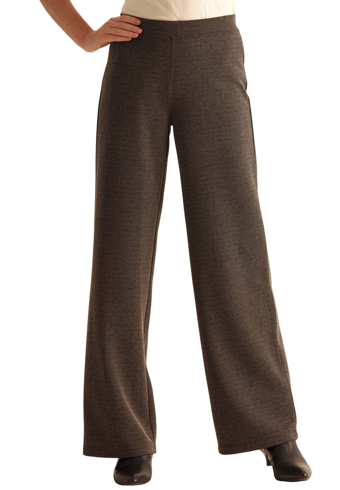 7c878c4e0fd98 Plus Size Pants in stretchy ponte knit image. Plus Size Pants in stretchy  ponte knit image Tall Pants