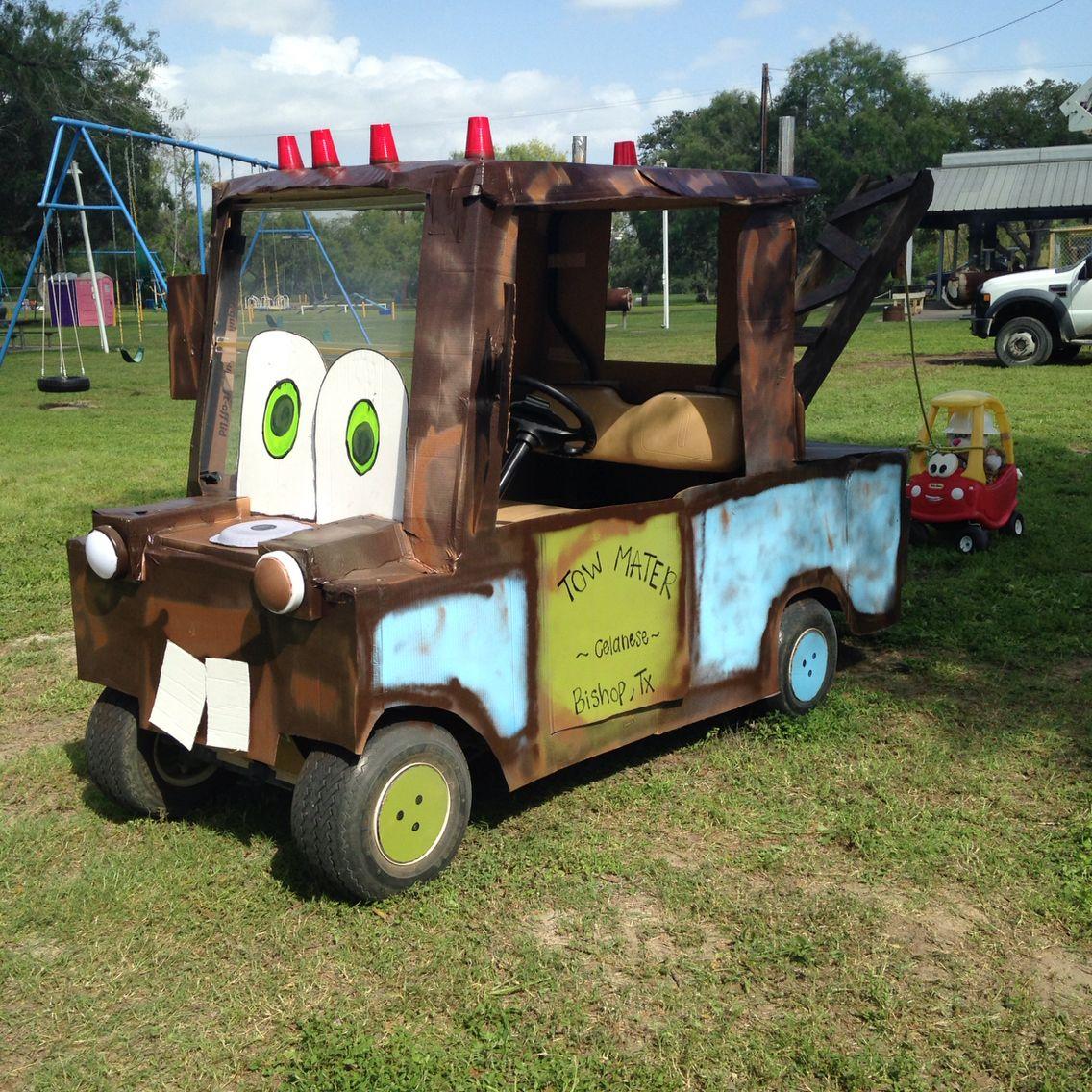 Tow Mater!!! Golf cart Decorations! Golf cart