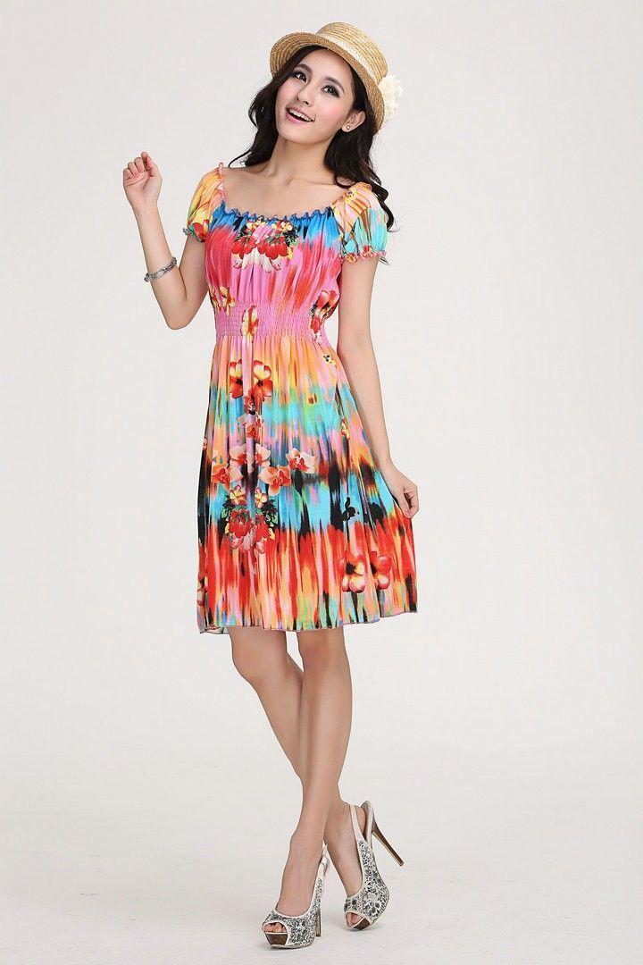 Kurzes Boho Sommerkleid | Sommerkleid, Minirock, Coole kleider
