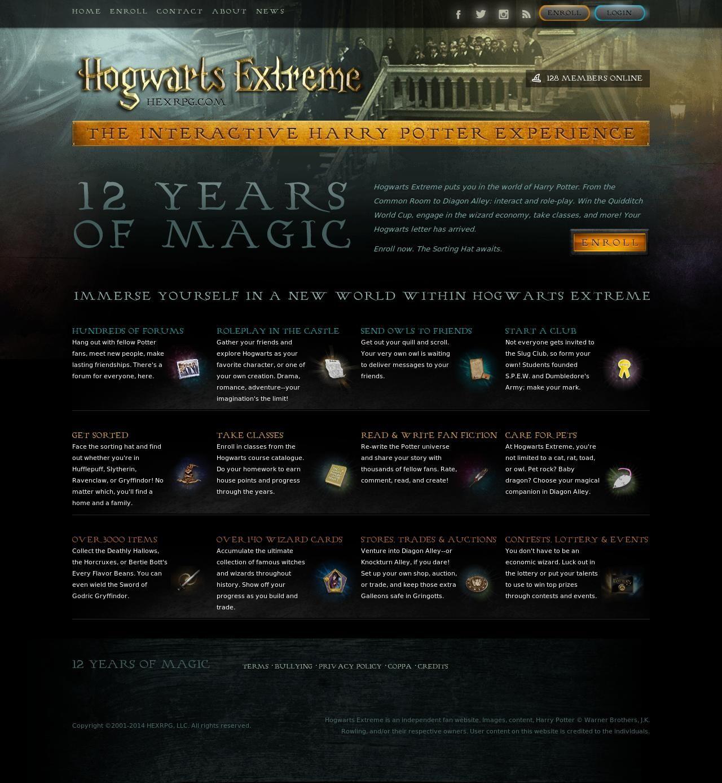 Hogwarts Extreme The Interactive Harry Potter Experience Hogwarts Extreme Harry Potter Experience Harry Potter Website